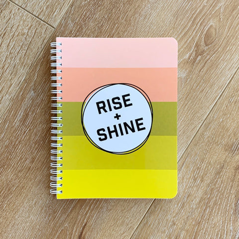 Rise + Shine Simple Notebook