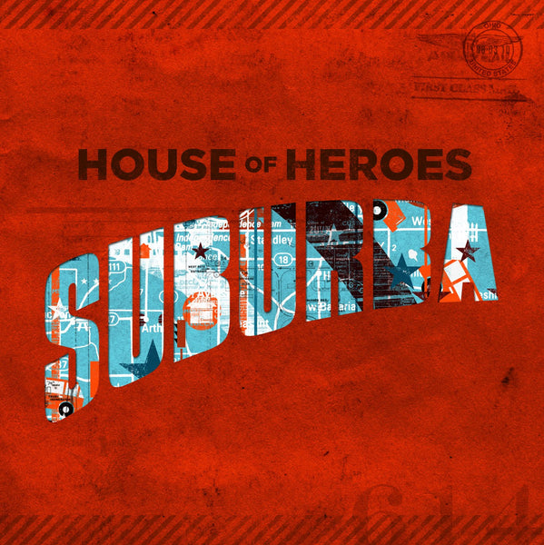 House Of Heroes - Suburba 2LP Red/Blue Split Vinyl (Limited 300 Albums)