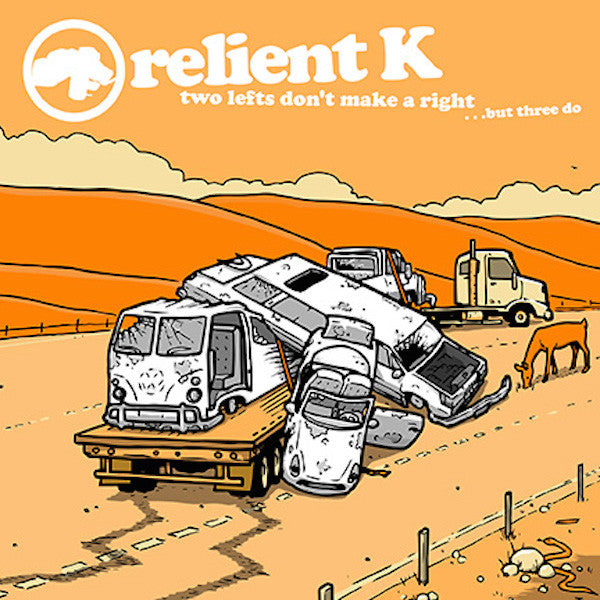 Relient K - Two Lefts Don't Make A Right But Three Do 2LP (Split White/Orange Vinyl)