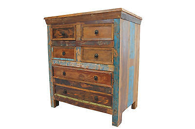 Reclaimed Teak Chest of Drawers, Six Drawers