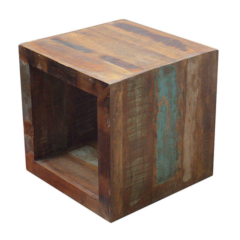 Reclaimed Teak Chunky Side Table or Lamp Table