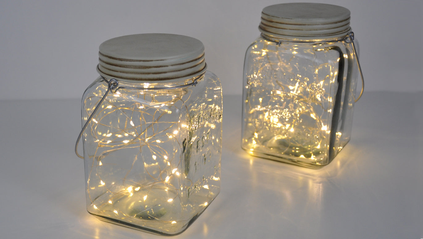 Glass Jar String Lights : Features
