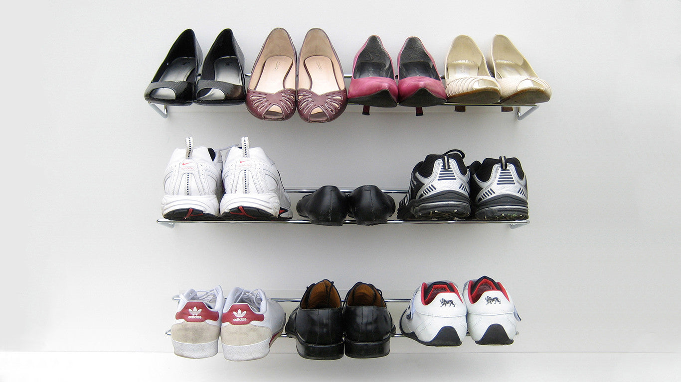 The Wired Shoe Rack Can A Large Number Of Shoes In Small E