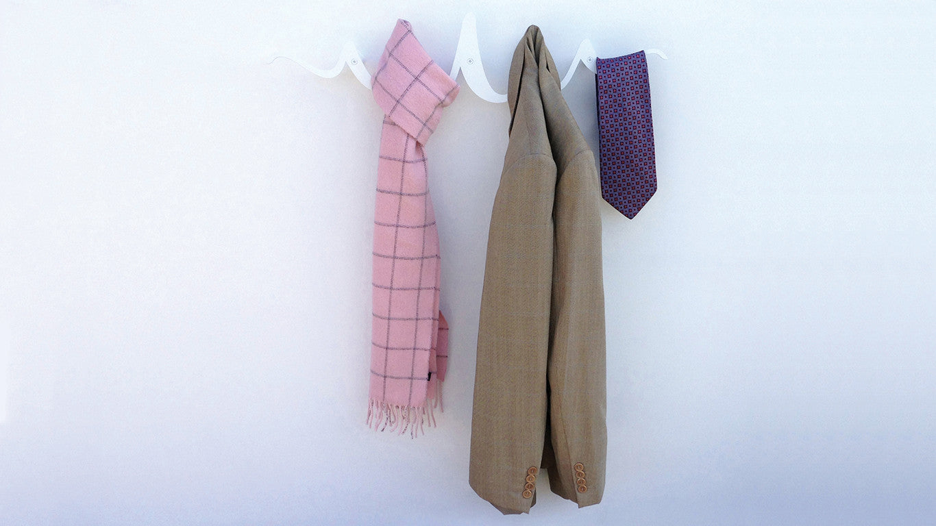 Ribbon Coat Rack A Stylish Way To Hang Your Coats
