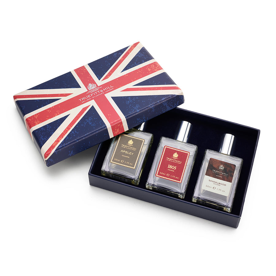 1805, Sandalwood & Aplsey Cologne (50ml) Union Jack Gift Box Set (Limited) - Truefitt & Hill USA