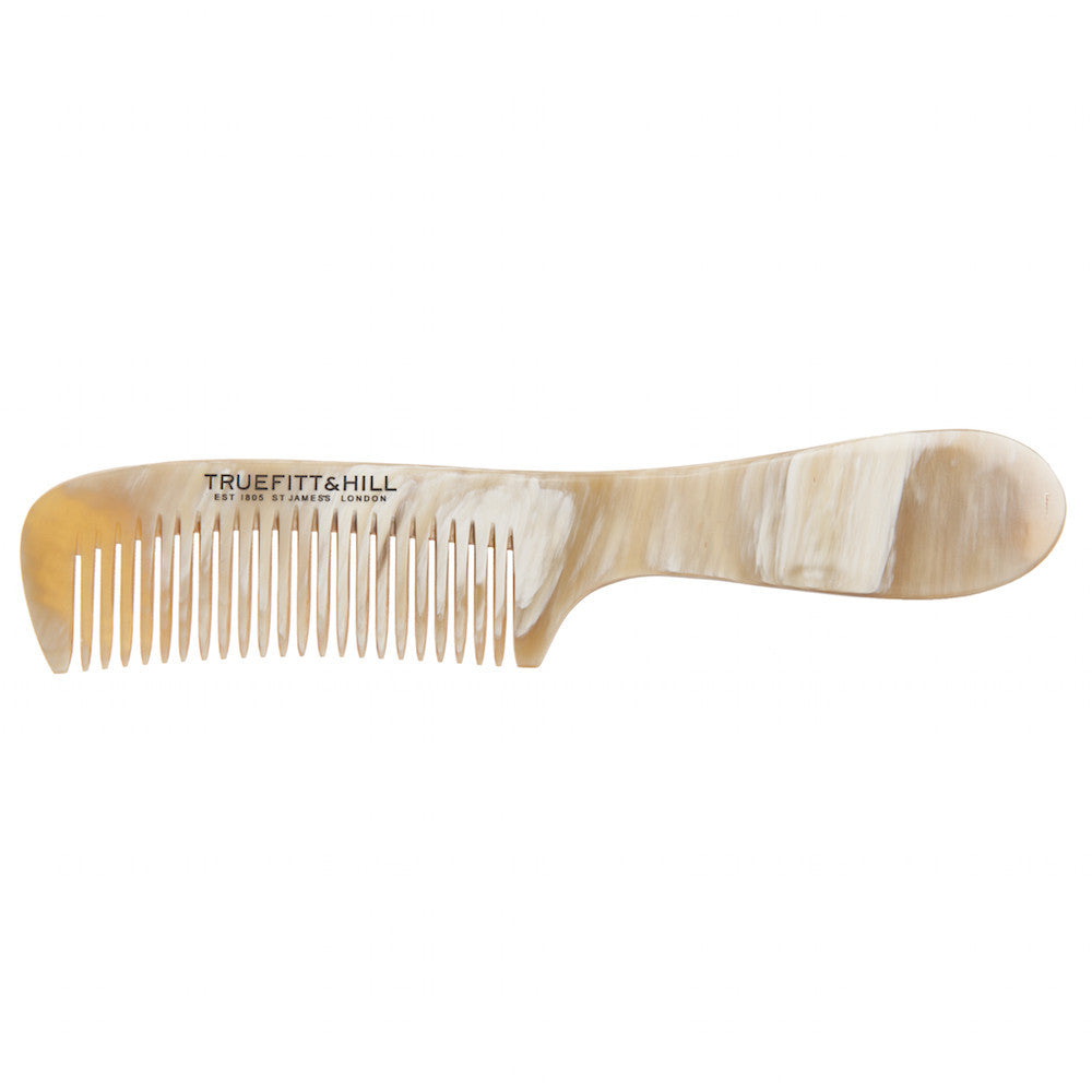 "Truefitt & Hill Horn Comb with handle (7.5"") - Truefitt & Hill USA"