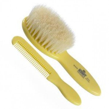 Kent Baby Brush & Comb Set, Supersoft White Bristles - Truefitt & Hill USA