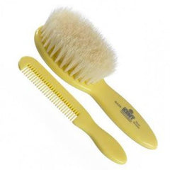 Kent Baby Brush & Comb Set, Supersoft White Bristles