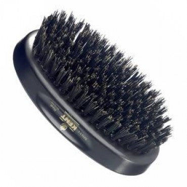 Kent Military Brush, Oval, Black Bristles, Ebonywood