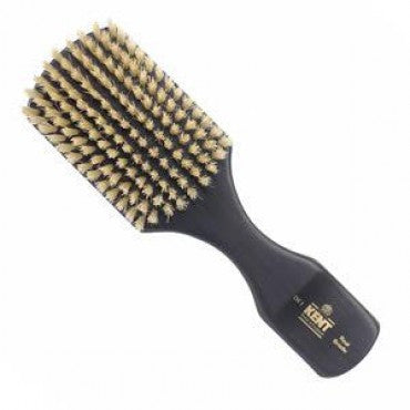 Kent Men's Brush, Rectangular Head, White Bristles, Ebonywood
