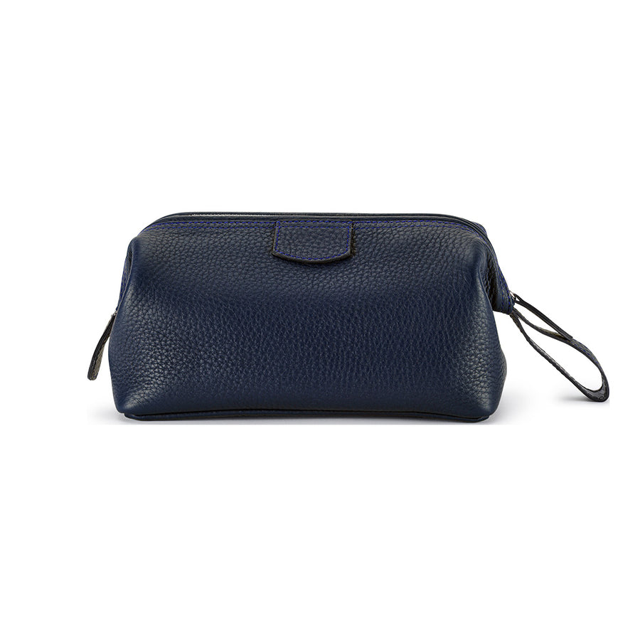T&H Navy Nappa Wash Bag - Truefitt & Hill USA