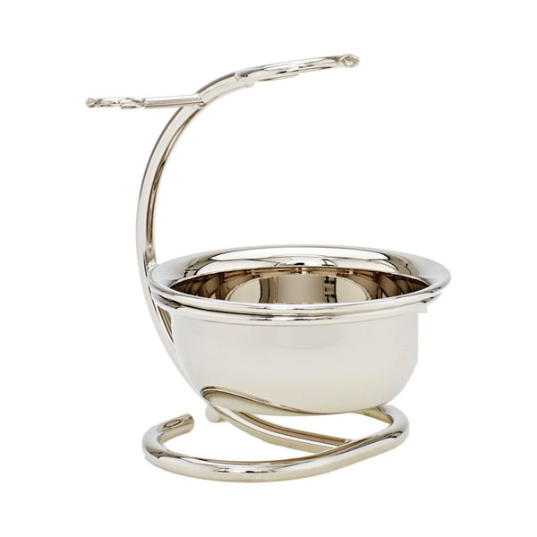 Chrome Shaving Stand with Bowl