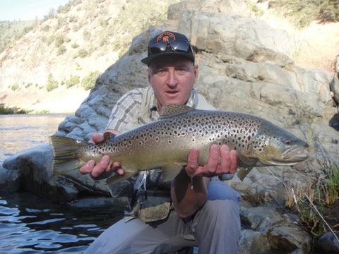Neil with a nice Brown for the North Fork of the Stanislaus River