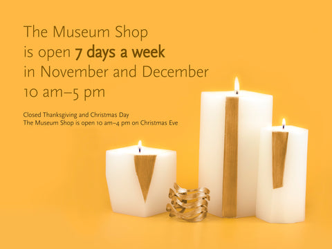 Shop Open 7 Days in November and December