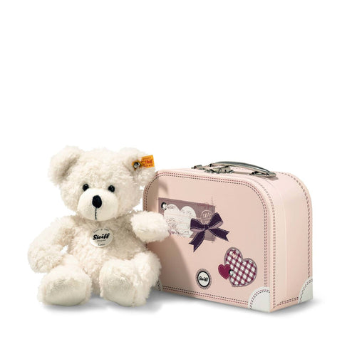 Teddy Bear Lotte in a Pink Suitcase