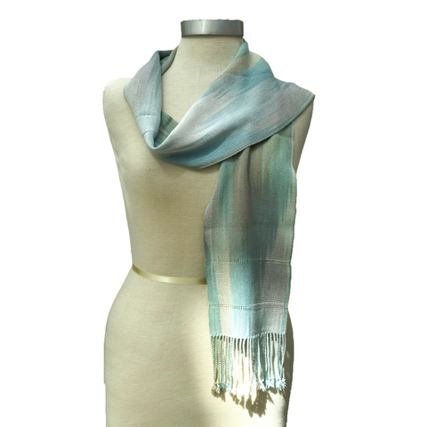 Handwoven, Hand-dyed Scarf by Hetty Friedman