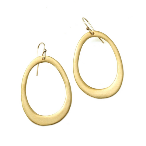 Large Oval Vermeil Earrings by Philippa Roberts