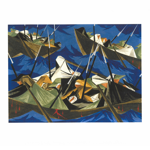 Print Jacob Lawrence 'Struggle Series - No. 10: Washington Crossing the Delaware'