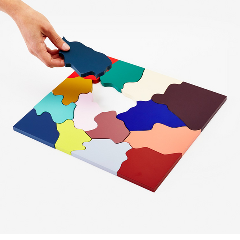 Abstract Wooden Color Puzzle by Clara Von Zweigbergk