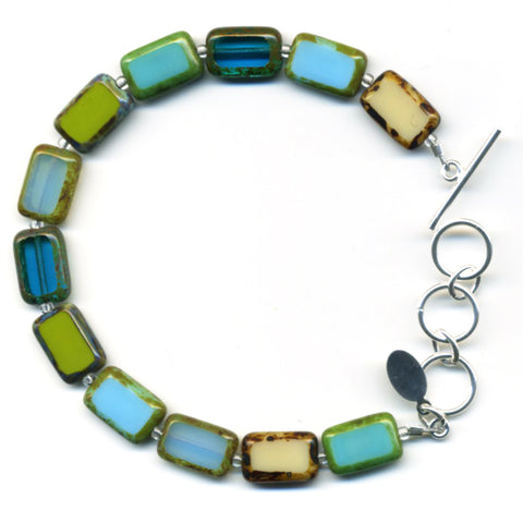 Mosaic Glass Tile Bracelet in Tide Pool - Stefanie Wolf