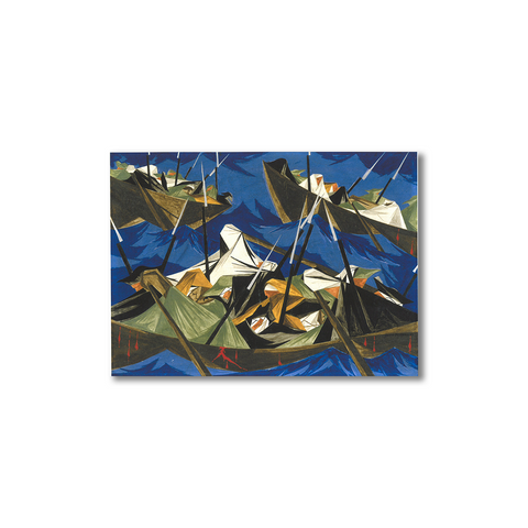 Postcard Jacob Lawrence 'Struggle Series - No. 10: Washington Crossing the Delaware'