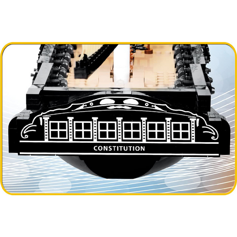 800-Piece Smithsonian USS Constitution Building Kit