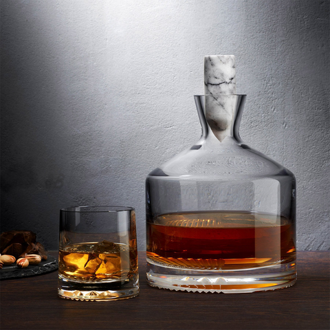 Whisky Decanter with Marble Stopper