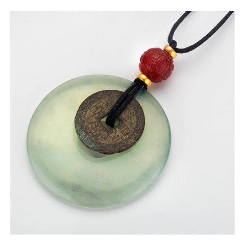 Jade Bi Disc Necklace