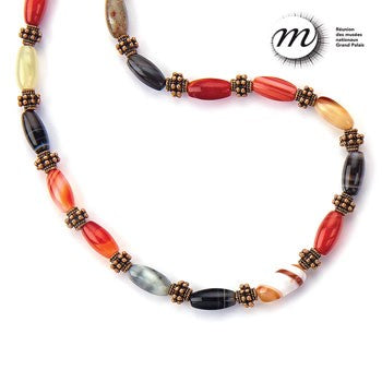 Banded Agate Necklace - 22""
