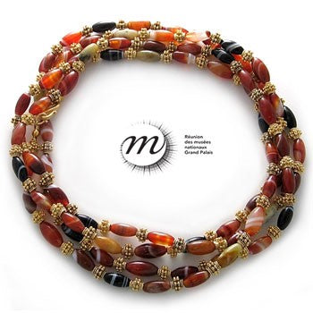 Banded Agate Necklace - 59""