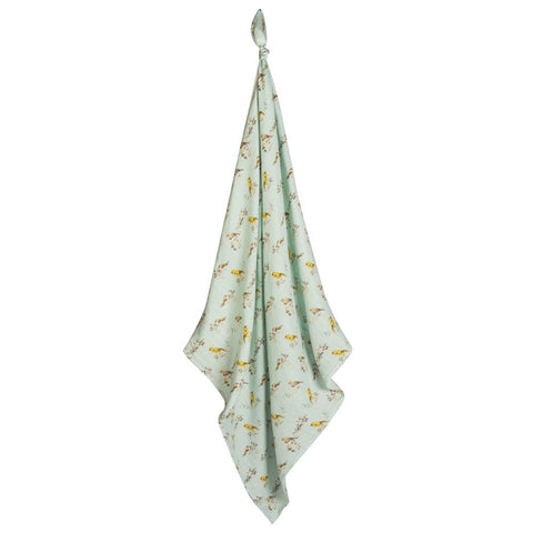 Blue Bird Swaddle Blanket