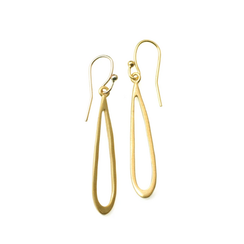 Small Open Drop Vermeil Earrings by Philippa Roberts