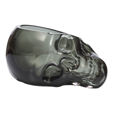 Large Handmade Glass Skull Vase