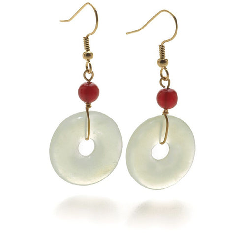 Jade Bi-Disc Earrings