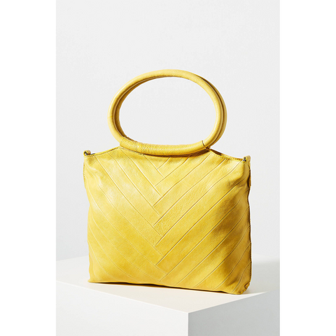 Leather Handbag- Dalton- Yellow
