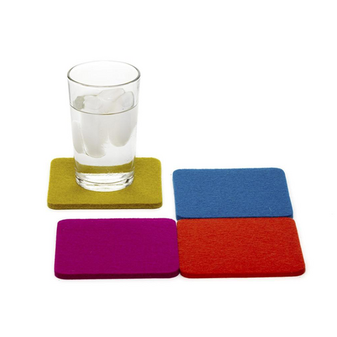 Merino Wool Felt Coasters - Multi Color