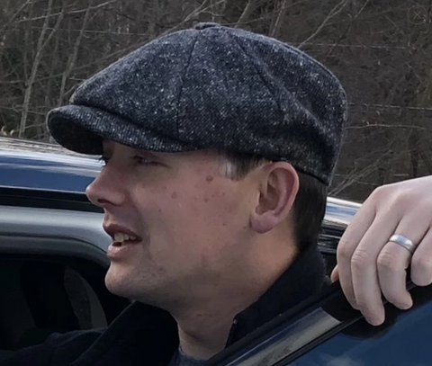 Newsboy Cap - Herringbone Denim
