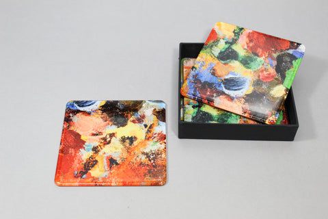 Abstract Magnet + Coaster Set
