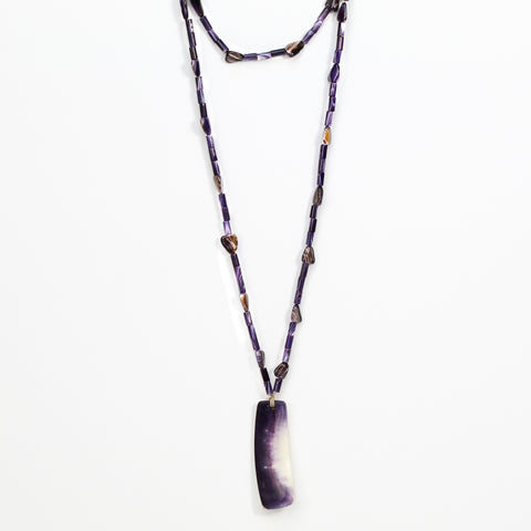 Beaded Wampum Necklace by Elizabeth James-Perry