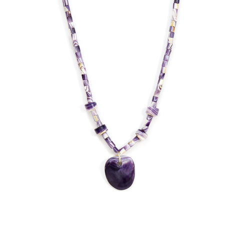 Matrix Wampum Necklace by Elizabeth James-Perry