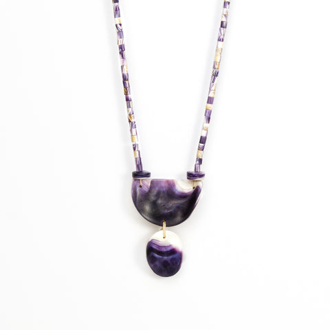 Lunar Wampum Necklace by Elizabeth James-Perry