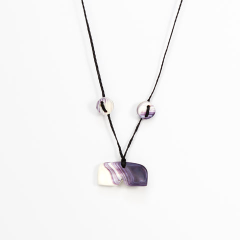 Whale Tail Wampum Necklace by Elizabeth James-Perry