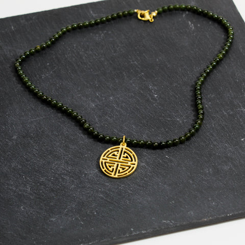 Shou Symbol Jade Necklace