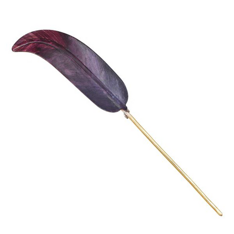 Purple Feather Hairpin