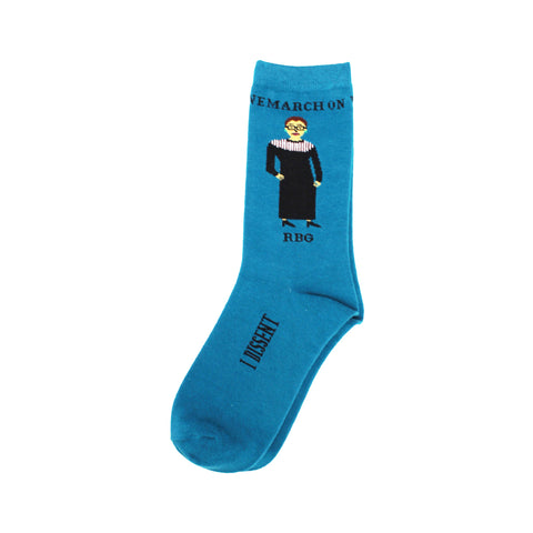 Ruth Bader Ginsburg Socks in Blue