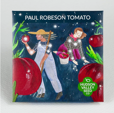 Paul Robeson Tomato Seeds - Art Seed Packs
