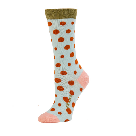 Lucy Polka Dot Clearwater Crew Socks - Medium Unisex