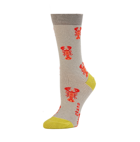 Lobsters Heather Crew Socks - Medium Unisex