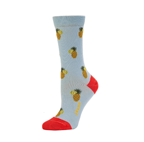 Tropical Clearwater Crew Socks - Women