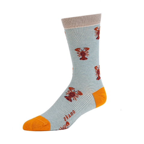 Lobsters Organic Cotton Crew Socks - Large Unisex